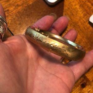 Beautiful gold plated bangle bracelet